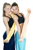 二个体育运动妇女 免版税图库摄影