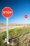 二个停车标志 免版税库存图片