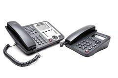 二个办公室电话 库存照片