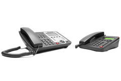 二个办公室电话 免版税图库摄影