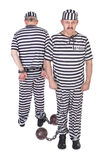 二个囚犯 库存照片
