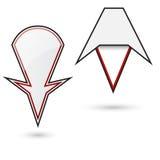 二个多种设计标志(针)映射的。 库存例证