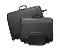 二个大手提箱和旅行袋子 库存图片