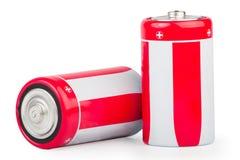 二个大电池 免版税库存图片
