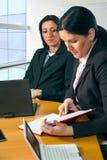 二个女商人纵向  库存照片