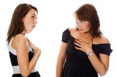 二个妇女年轻人 免版税图库摄影