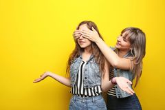 二个妇女年轻人 图库摄影