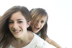 二个姐妹纵向 库存图片