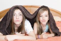 二个姐妹纵向 免版税图库摄影