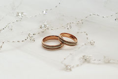 二个婚戒 免版税库存照片