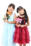 二个小亚裔女孩 免版税图库摄影