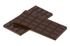 二个巧克力块 免版税库存照片