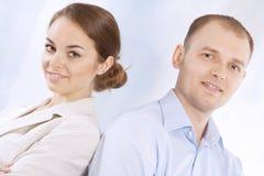 二个成功的企业同事 免版税库存图片