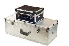 二个手提箱 图库摄影