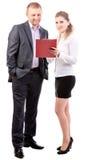 二个新办公室工作者 免版税库存图片
