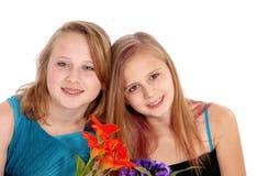 二个新姐妹纵向 图库摄影