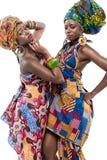 二个新非洲时装模特儿。 免版税库存照片