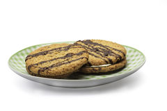 二个曲奇饼 免版税库存图片