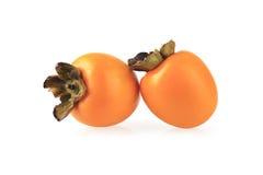 二个柿子 库存照片