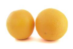 二个桔子 免版税库存照片