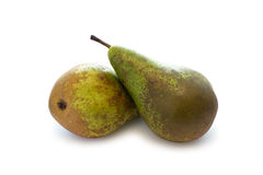 二个梨 免版税库存照片