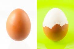 二个煮沸的鸡蛋 免版税库存照片