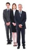 二个生意人和一名女实业家 免版税库存照片
