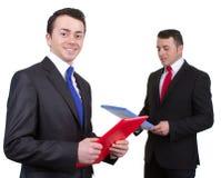 二个生意人 免版税库存照片