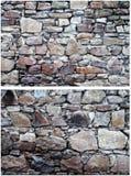 二个石墙 库存照片