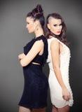 二个美丽的女孩 免版税库存照片