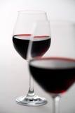 二个葡萄酒杯 库存图片