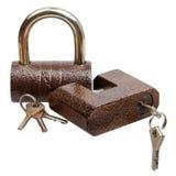二个锁定和关键字 库存照片