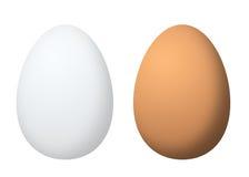 二个鸡蛋 免版税库存图片