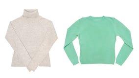 二件毛线衣 库存图片