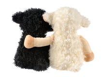二件逗人喜爱的填充动物玩偶 免版税库存照片