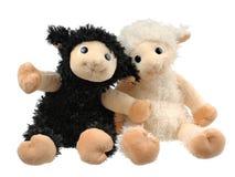 二件非常逗人喜爱的填充动物玩偶 免版税图库摄影