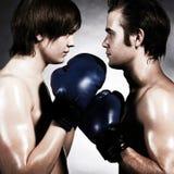 二位拳击手 免版税库存照片