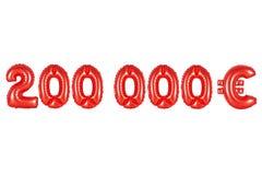 二十万欧元,红颜色 库存照片