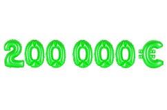 二十万欧元,绿色 免版税图库摄影