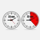 二十三个秒定时器 皇族释放例证