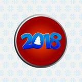 二十个第十八个新年装饰了日期边界 免版税库存图片