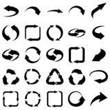 二十五个箭头象设置了汇集 库存图片