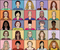 二十五妇女 免版税库存图片