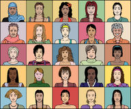 二十五妇女 库存照片