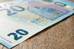 二十欧元新的钞票  库存图片