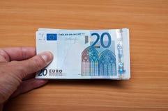 二十欧元Banknot  库存图片