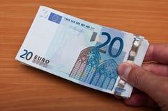 二十欧元Banknot  库存照片