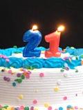二十第一生日蛋糕 免版税库存照片