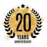 二十年金子周年 免版税库存照片