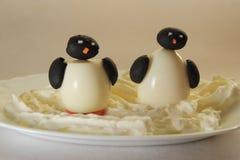 二只企鹅 库存照片